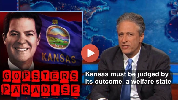 Jon Stewart Red State Kansas should be treated like the welface queen it is