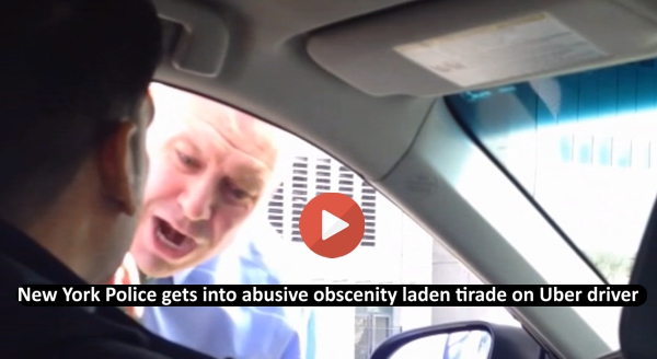 New York Police gets into abusive obscenity laden tirade on Uber driver