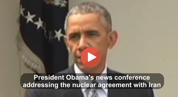 President Obama news conference on Iran nuclear deal