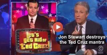 Jon Stewart annihilates Ted Cruz
