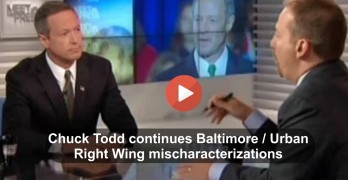 Likely Democratic Presidential Candidate Martin O'Malley slams Chuck Todd's Right Wing Baltimore characterization