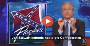 Jon Stewart slam those still clinging to the Confederacy