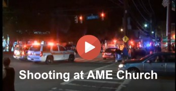 Large police & FBI response to shooting at Emmanuel AME Church in Charleston, SC