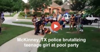 Police brutalize black teenage girl in two piece bikini