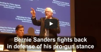Bernie Sanders fights back pro gun