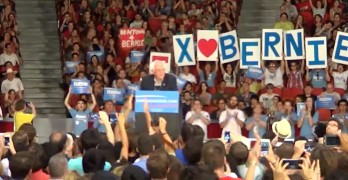 Bernie Sanders in Houston, Texas