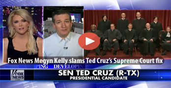 Megyn Kelly ridicules Ted Cruz's Supreme Court fix during interview