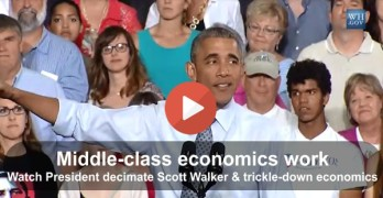 Obama slams Scott Walker with Minnesota vs Wisconsin middle-class economics vs trickle-down comparison 02