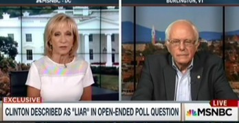 Bernie Sanders refuse to play silly media game in Andrea Mitchell interview