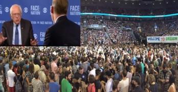 Bernie Sanders slams GOP debate Sunday morning - Speaks to 28000 that evening