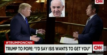 Donald Trump would put the fear of ISIS in Pope for his critiques of capitalism 2