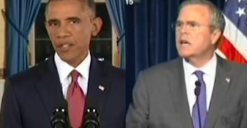 President Obama - Jeb Bush - Barack Obama