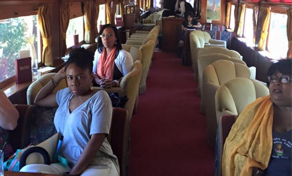 The Napa Valley Wine Train black women book club in purgatory