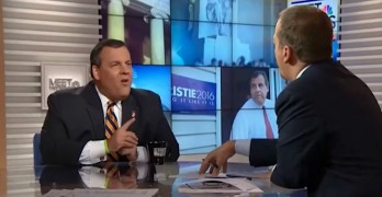 Chris Christie scolds and bullies Chuck Todd