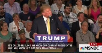 Donald Trump does not respond to intolerant fan