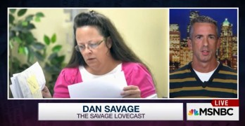 Gay marriage license denying Kentucky clerk's own 'skeletons' justifiably exposed, Kim Davis, Dan Savage.