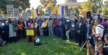 Cornell William Brooks at Journey for Justice on Capitol Hill grounds