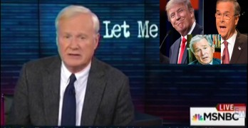 Chris Matthews Donald Trump Jeb Bush George Bush