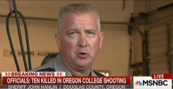 John Hanlin, Sheriff of Oregon county where school massacre occurred vowed to not enforce new gun laws (VIDEO)