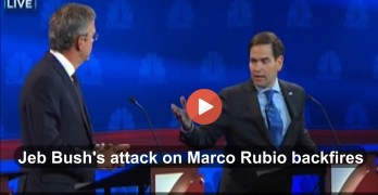 Marco Rubio embarasses Jeb Bush in Republican debate