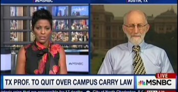 University of Texas Professor Emeritus Daniel Hamermesh quits as Texas allows guns on campus.