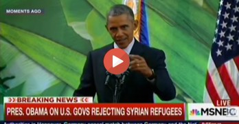 Obama lashes out at governors and fearmongering Republican candidates on refugee crisis