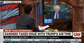 Bernie Sanders scolds the media then articulates the problems to be solved.
