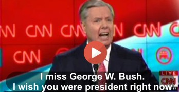 Lindsey Graham - I miss George W Bush. I wish you were president right now (VIDEO)