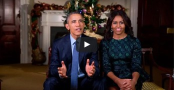 President & Michelle Obama's Christmas message.