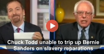 Chuck Todd failed at attempt to trip up Bernie Sanders on slavery reparations 2