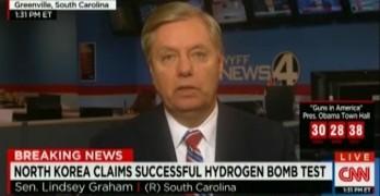 Lindsey Graham encourages North Korea's nuclear program (VIDEO)