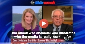 ThisWeek Martha Raddatz shamefully tries to scare Americans about Bernie Sanders rattling Wall Street & Markets (VIDEO)