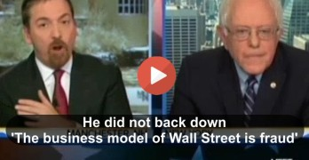 Bernie Sanders like a Super Bowl quarterback not backing down to Chuck Todd on Wall Street