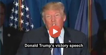 Donald Trump's New Hampshire victory speech (VIDEO)