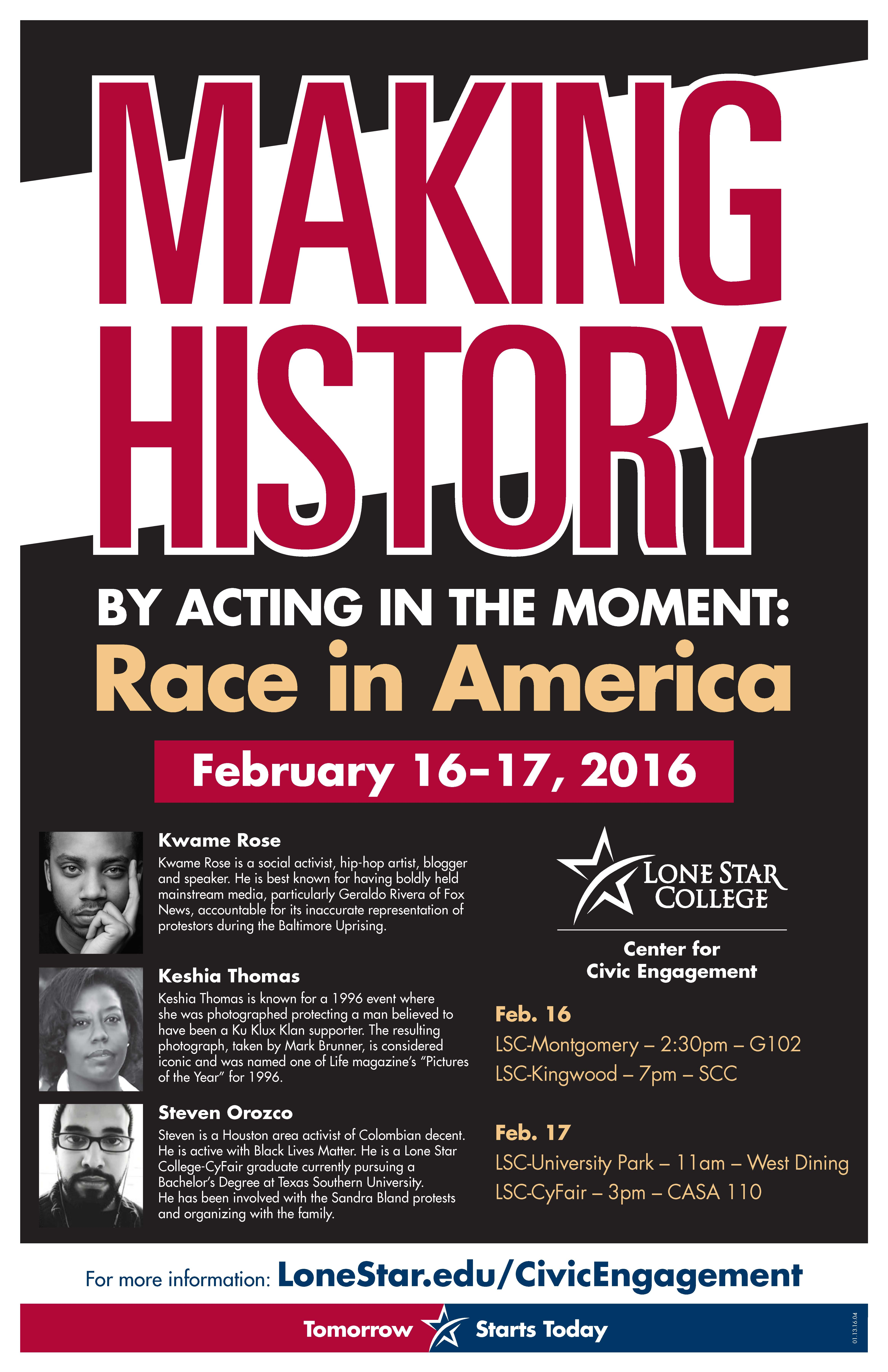 Making history by acting in the moment: Race In America