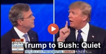 Donald Trump to Jeb Bush - Quiet