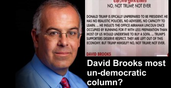 New York Times Conservative Columnist David Brooks