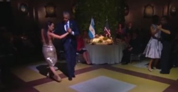 President Obama dancing the Tango