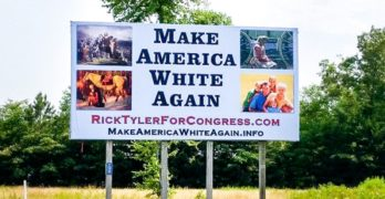 Tennessee candidate defends his sign - Keep America White Again
