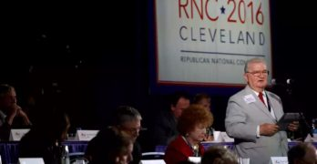 Republican Convention Rules Committee floor flight