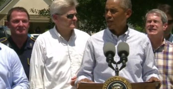 President Obama's press conference in Louisiana addressing flood