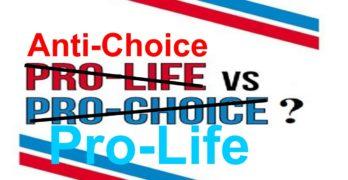 Pro-life, anti-choice,pro-choice