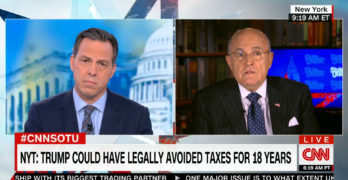 Jake Tapper grills Rudy Giuliani about Trump tax dodging / bad business (VIDEO)