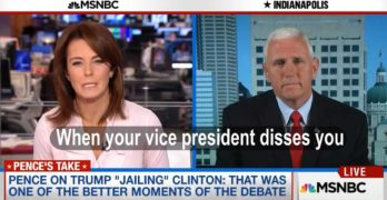 Mike Pence disses Donald Trump