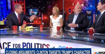 MSNBC host calls out another on air for his trumped up Trump coverage (VIDEO)