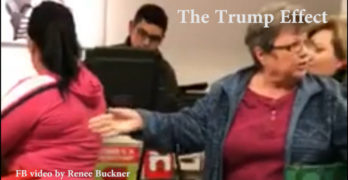 Trump Effect - White woman goes on a vile racist verbal attack on Latina (VIDEO)