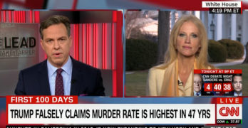 CNN Jake Tapper takes Kellyanne Conway & Trump to the cleaners for their blatant lies (VIDEO)