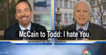 Senator John McCain to NBC Chuck Todd I hate the press. I hate you (VIDEO)