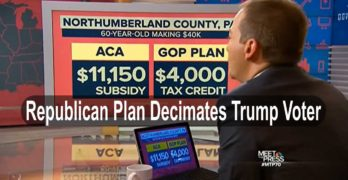 By the numbers: Republican healthcare plan cost Trump voter much more than Clinton's