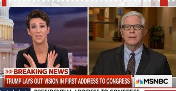 Rachel Maddow checked Trump apologist defending him blaming generals for Yemen